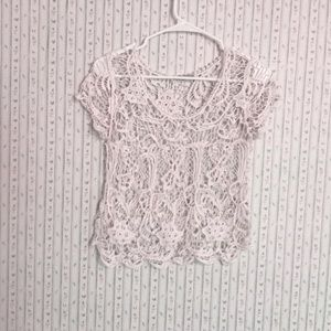 Women's Ivory Rue21 Cropped Lace Overlay